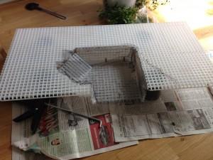 Lichtrasterplatte beschnitten
